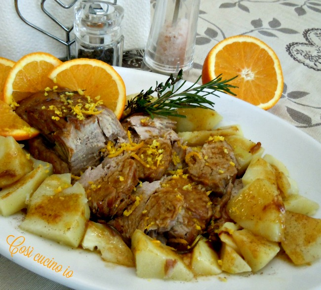 Filetto di maiale all'arancia-Così cucino io