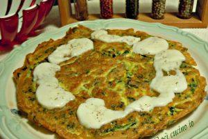 Frittata di spinaci filante
