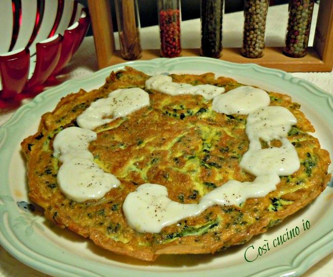 Frittata di spinaci filante-Così cucino io