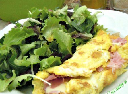 Omelette prosciutto di praga e formaggio asiago