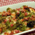 Broccolo gratinato con provola e pancetta
