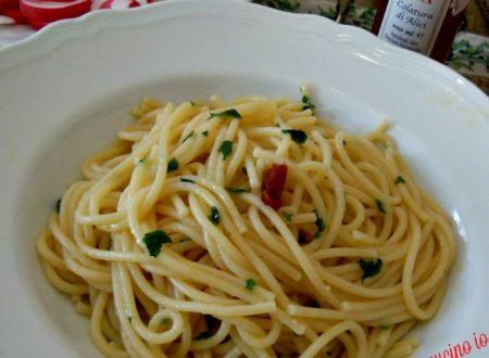 Spaghetti con colatura di alici
