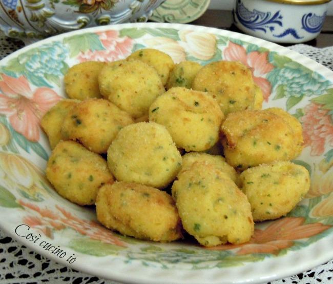 Polpettine di merluzzo e patate