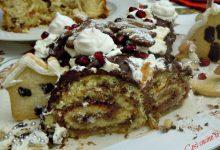 Tronchetto delle feste alla marmellata di ciliegie e cioccolato