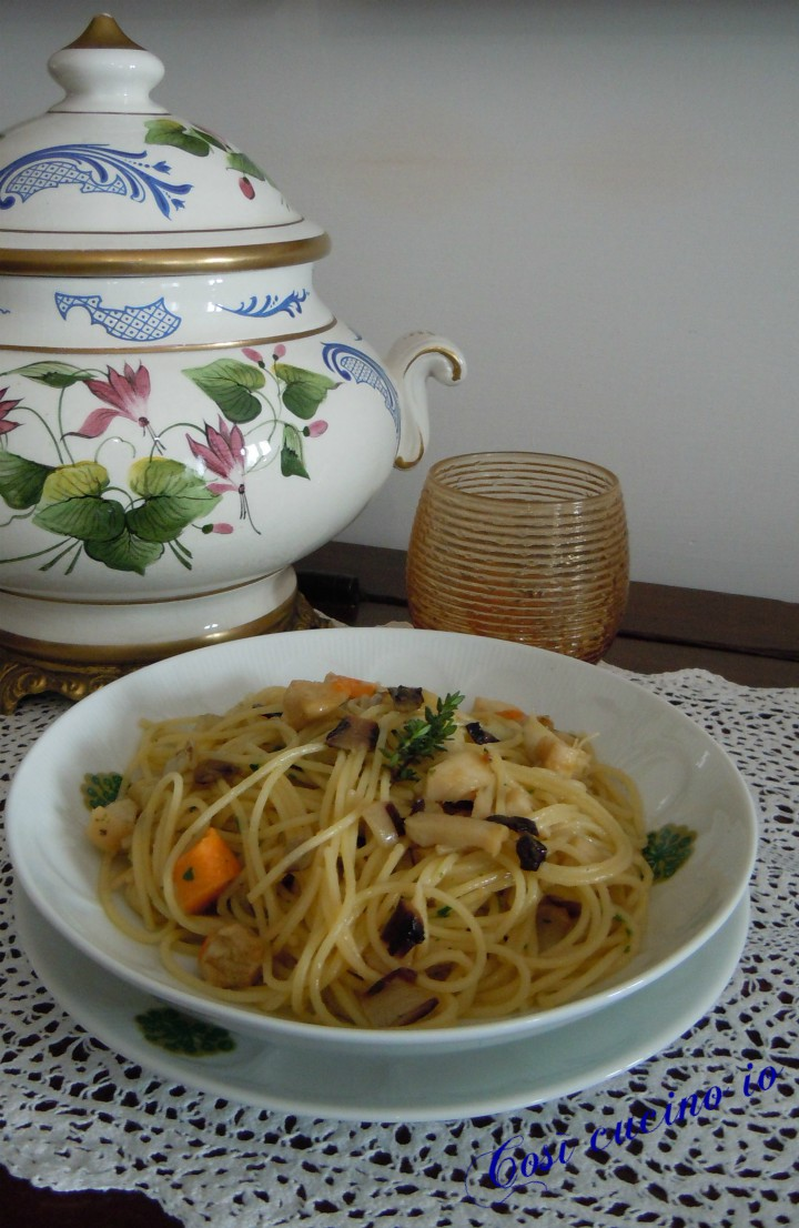 Spaghettini capesante e radicchio tardivo - Così cucino io