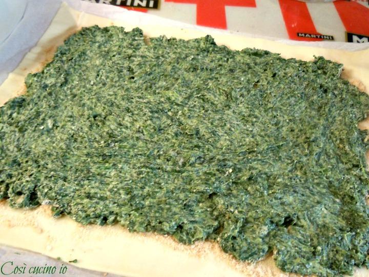 Strudel prosciutto ricotta spinaci - Così cucino io