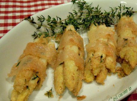 Involtini di asparagi bianchi in lardo di Colonnata