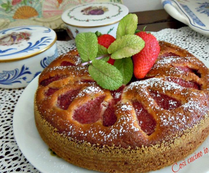 Torta morbida ricotta e fragole - Così cucino io