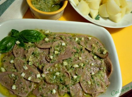 Lingua fredda in salsa verde aromatica