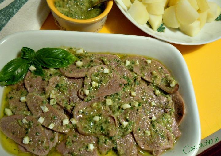 Lingua fredda in salsa verde - Così cucino io