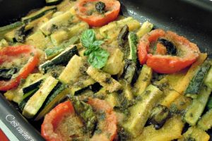 Zucchine e pomodori al forno