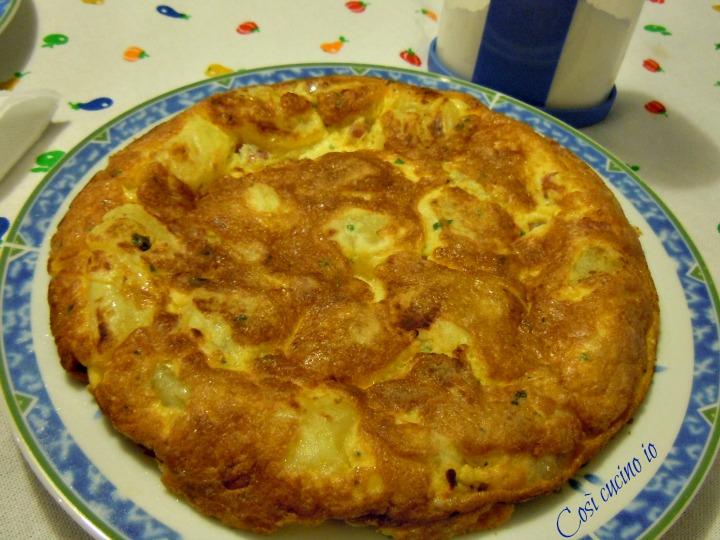 Frittata di patate e pancetta - Così cucino io