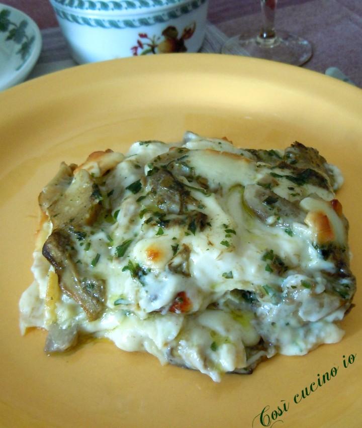 Lasagne porcini e scamorza affumicata - Così cucino io