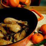 Fuselli di pollo alla clementina