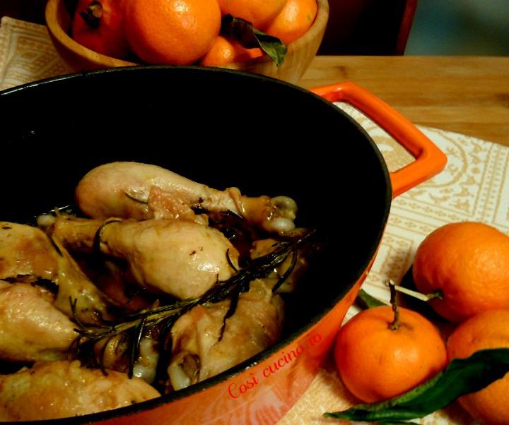 Cosce di pollo alla clementina - Così cucino io