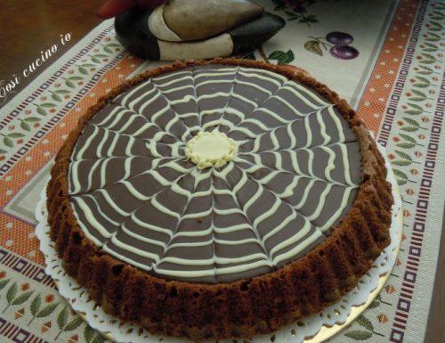 Torta al cioccolato ragnatela