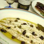 Branzino al forno capperi e olive taggiasche