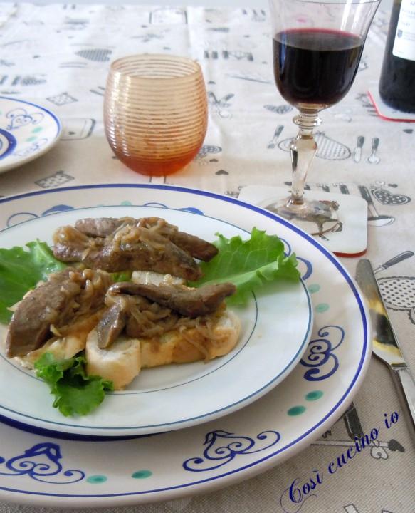 Crostini di fegato alla veneziana - Così cucino io