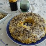 Timballo di tagliolini al pastin e salsa tartufata