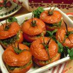 Pomodori col cappello ripieni al forno