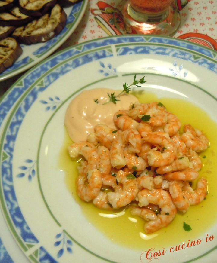 Piccole mazzancolle e salsa rosa - Così cucino io