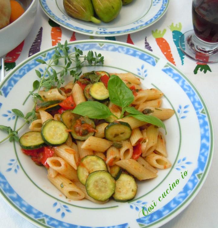 Mezze penne vegetariane superveloci - Così cucino io