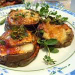 Torrette di melanzane alla parmigiana, cucina di riciclo