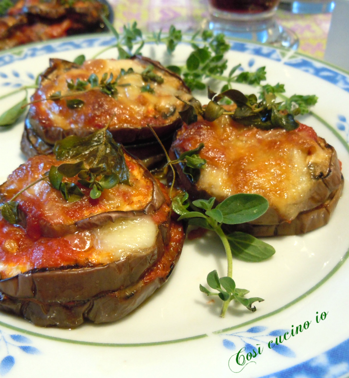 Torrette di melanzane alla parmigiana - Così cucino io