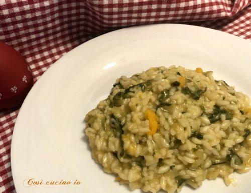 Risotto di insalata riccia e zucca