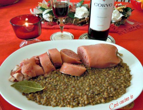 Zampone o cotechino e lenticchie (ricetta tradizionale)