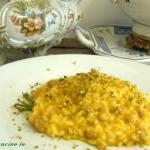 Risotto salamella zucca e granella di pistacchi - Così cucino io