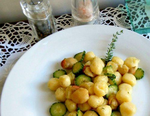 Gnocchetti di patate con capesante e zucchine