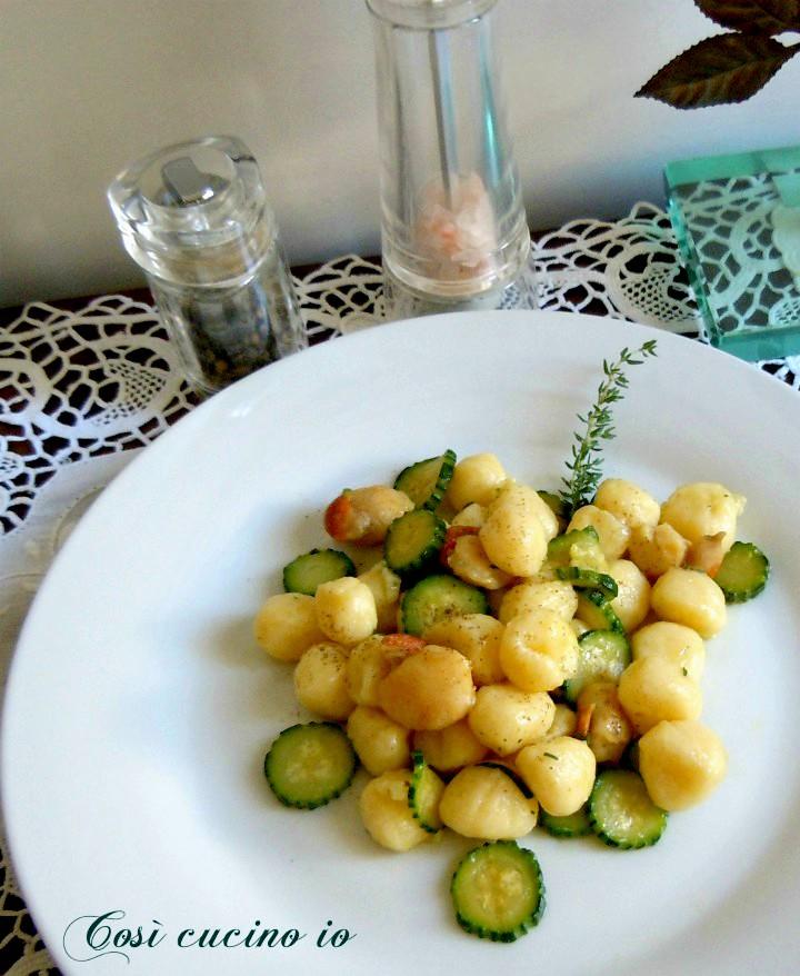 Gnocchetti capesante e zucchine - Così cucino io