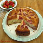 Torta primaverile ricotta e fragole