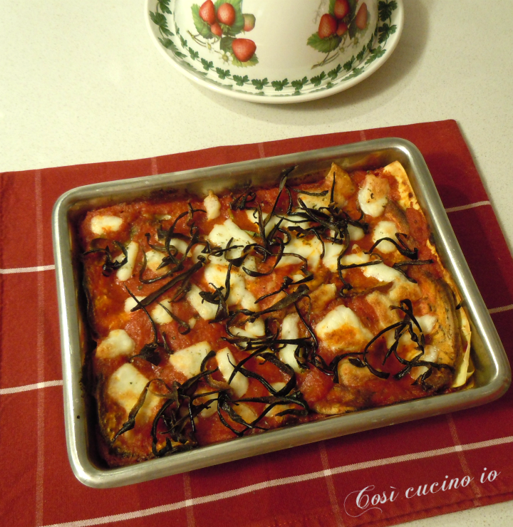 Lasagna di melanzane alla parmigiana - Così cucino io
