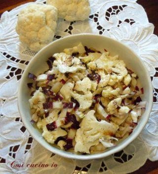 Cavolfiore e rosa dichioggia in insalata - Così cucino io