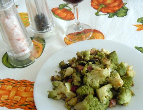 Broccolo romanesco al profumo di speck