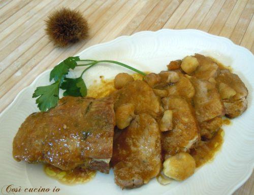 Filetto di maiale alla birra rossa e castagne