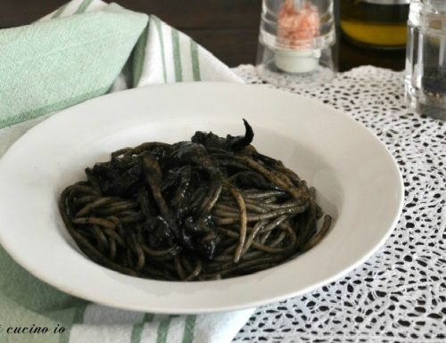 Spaghettini al nero di seppia