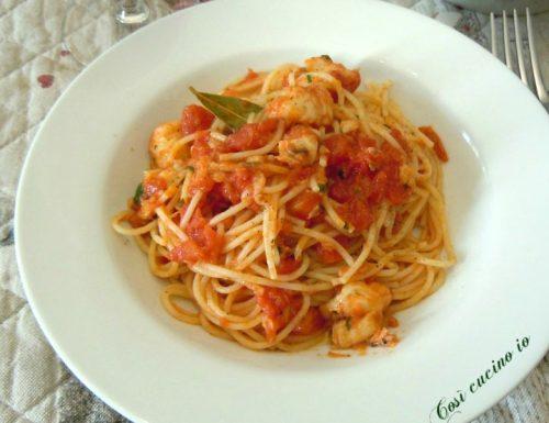 Spaghettini al sugo di coda di rospo