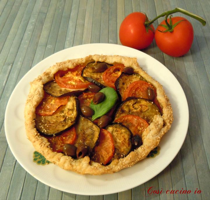 Sfoglia con melanzane e pomodoro - Così cucino io