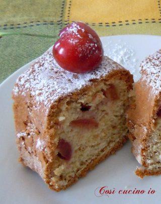 Ciambellone alle ciliegie, ricetta senza burro - Così cucino io