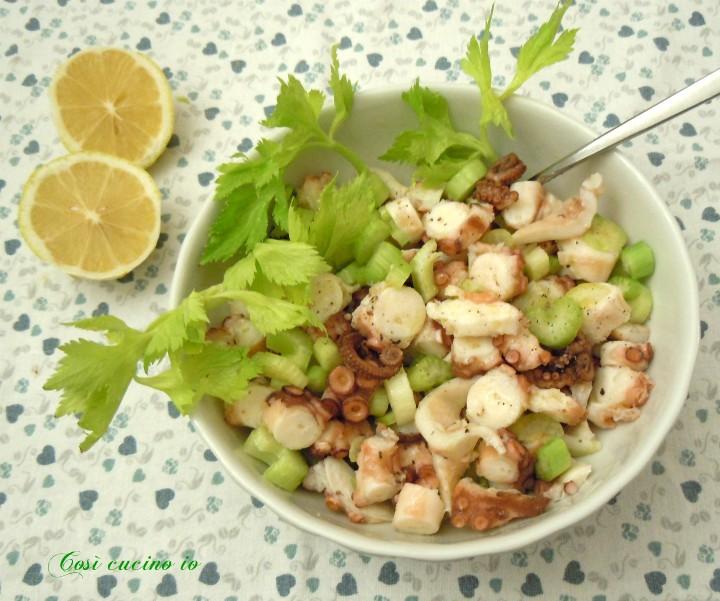 Piovra e sedano in insalata - Così cucino io