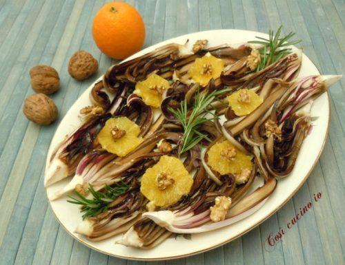Insalata di radicchio tardivo grigliato, arancia e noci