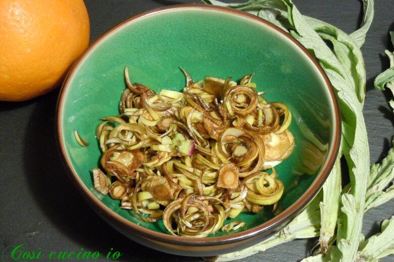 Carciofi crudi (castraure) al profumo di arancio