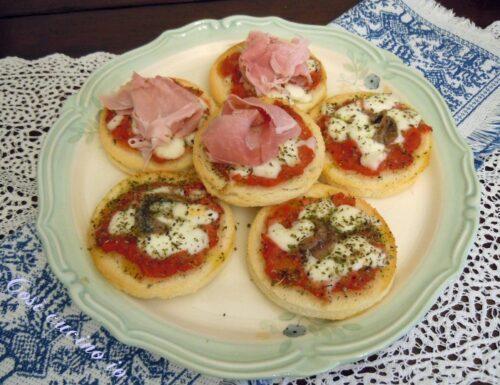 Pizzette furbe, antipasto, finger food