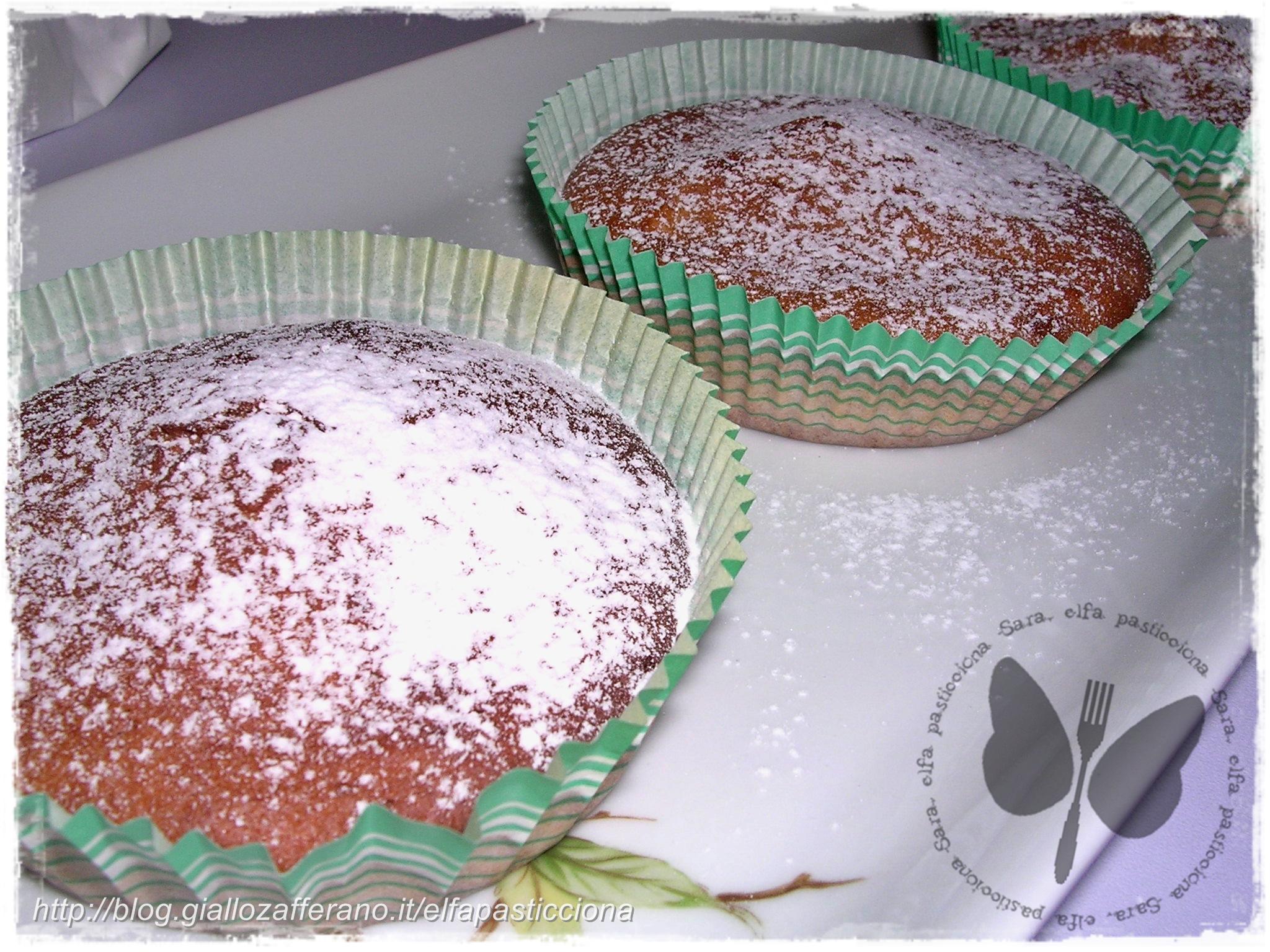 muffins alla ricotta e composta di arance