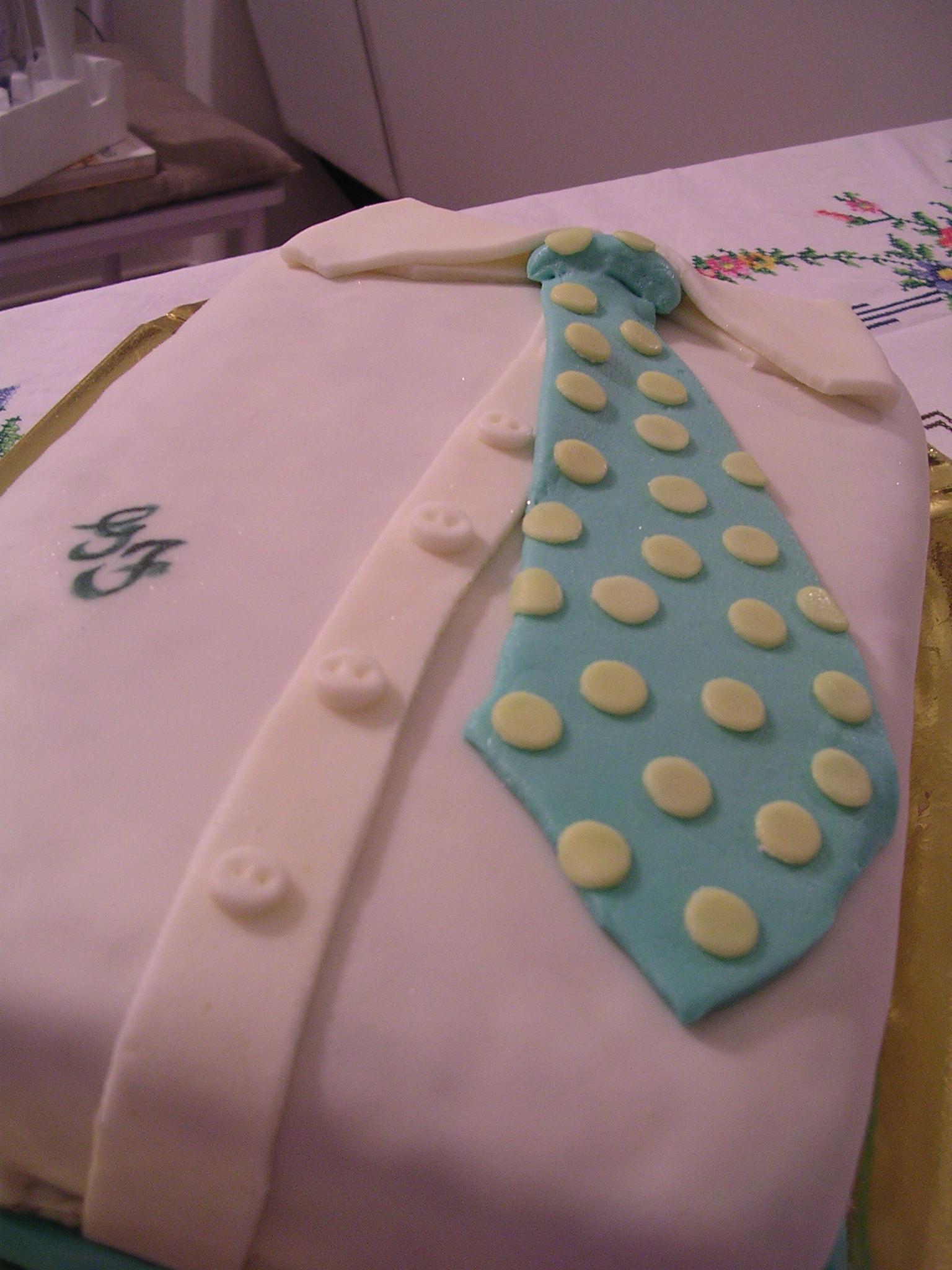 Torta Compleanno Pap 224 Camicia E Cravatta Sara Elfa