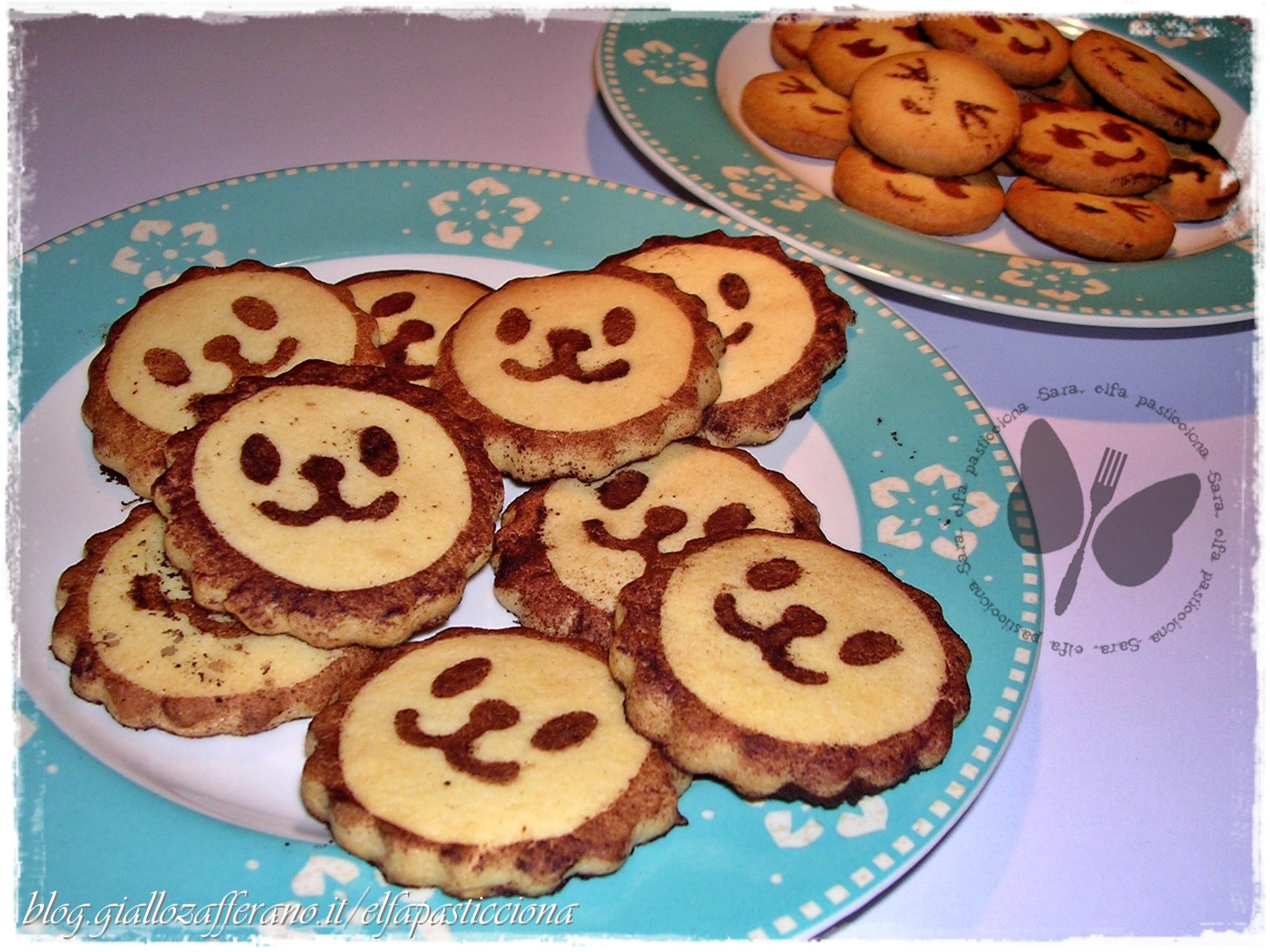 biscottini decorati vaniglia e cacao