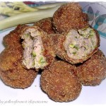 Polpette fritte di carne e zucchine